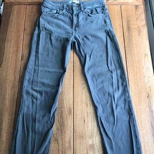 American apparel jeans sz 31 straight leg gray